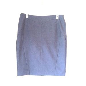 Worthington Gray Lined Suiting Pencil Skirt 8